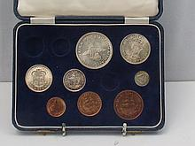A George VI proof coin collection dated 1952.