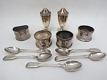 A small quantity of hallmarked silver including