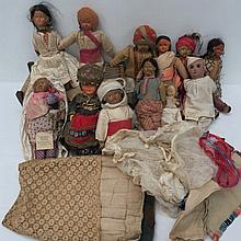 A collection of Indian and other nationality, ethnic dolls and associated ephemera, including a mini