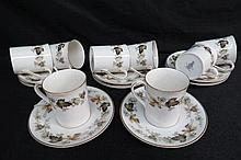 A quantity of eight Royal Doulton Larchmont coffee can duos