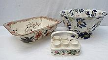 A Ridgeways Fantasia pattern semi porcelain Jardiniere pot 38cm diameter, lot 527 20th sept 2011, Ro