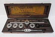 A vintage Wells Brothers American made tap and die set in fitted box.
