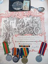 A British War medal for Great War also a Victory