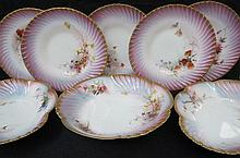 A Royal Worcester part dessert service retailed by