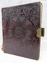 An early Victorian album with embossed leather