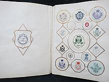 An album containing a quantity of armorial's