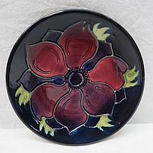 A Walter Moorcroft small dish with anemone design,