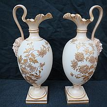 A pair of Royal Worcester jugs, of baluster form
