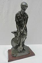 After Pierre Eugene Emile Herbert, bronze figure