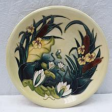 A Moorcroft wall plaque with Lamia design by