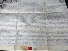 A George II vellum Indenture, dated 18th October
