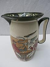 A Royal Doulton Series ware jug, transfer