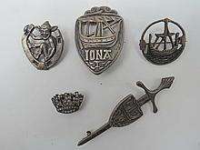 Three silver brooches (0.83ozt) from Iona and
