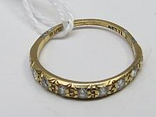 An 18ct yellow gold diamond set eternity ring 1.3g