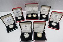 A small collection of silver proof £2 coins (3)