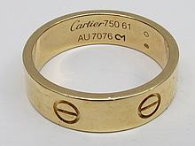 18ct Yellow gold Cartier love ring with screwhead