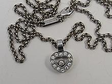 A Chopard Happy Diamond heart necklace in 18ct