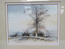 A framed watercolour by Gordon Dale, 12x16cm.