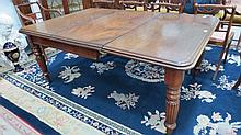A good Victorian mahogany pull out dining table