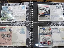 GB stamps 163 RAF Commemorative flight covers in