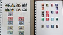 GB stamps five albums with mainly QEII mint, used