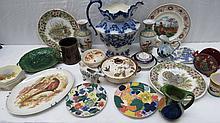 A small quantity of sundry ceramics including a