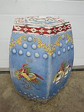 A Chinese style ceramic hexagonal garden seat