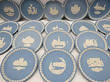 A collection of Wedgwood Jasper-ware Christmas