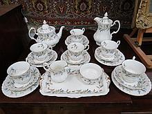 A 20thC Royal Albert tea service of six place