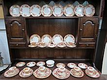 A Royal Vale part tea service transfer decorated