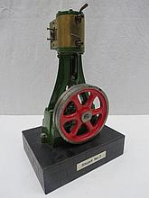 A Stuart No 7 live steam scale model, single