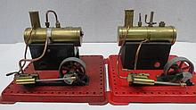 A pair of scale live steam stationary engines by