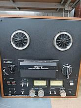 A Sony reel to reel three head stereo tape