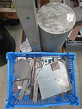 A quantity of solid aluminium blocks etc.