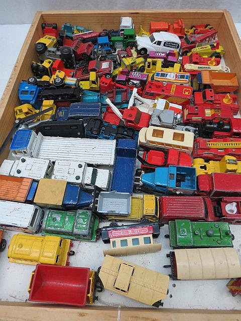 A quantity of model vehicles, mainly Matchbox