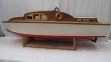 A model of Air-sea Rescue type launch with stand,