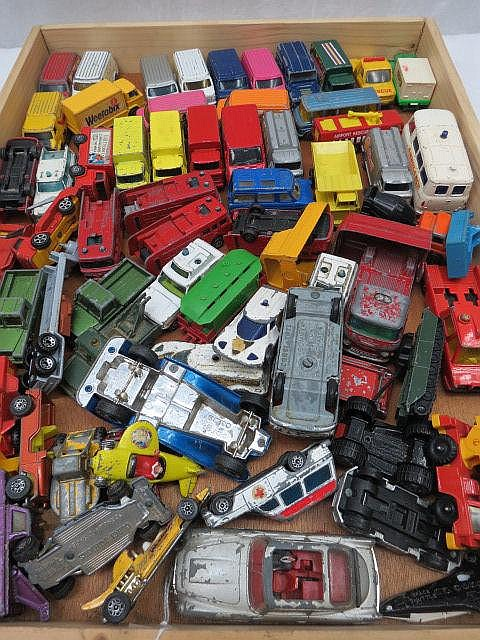 A quantity of model commercial vehicles, mainly by