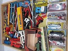A quantity of model commercial vehicles and racing