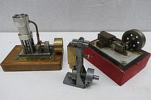 Three scale model live steam stationary single