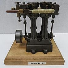 A scale model live steam twin cylinder marine