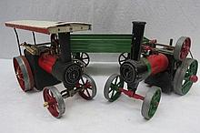 A live steam scale model Mamod traction engine