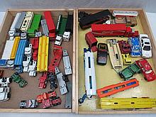 A large quantity of model car transporters and