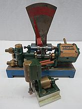 Two scale model live steam engines, one made by