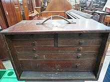 A mahogany box containing a quantity of