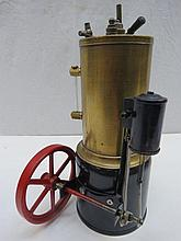 A scale model live steam copper boiler, 9cm