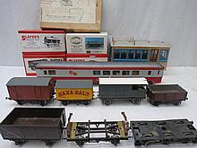 An 0 gauge Continental passenger carriage together