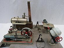 A scale model live steam stationary engine by