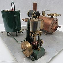 A scale model live steam plant stationary engine,