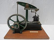 A live steam scale model Stuart beam engine,