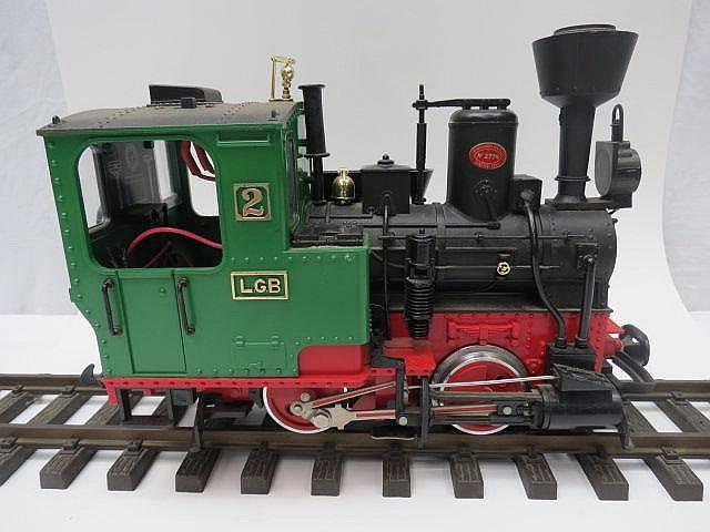 A Lehmann (LGB) G gauge model of a steam yard